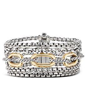 David Yurman - Sterling Silver & 18K Yellow Gold Multi-Row Chain Bracelet