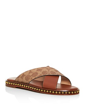 COACH - Women's Hailey Crisscross Slide Sandals