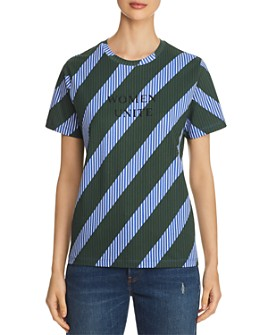 Tory Burch - Striped Embroidered Tee