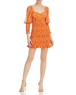 For Love & Lemons - Peony Smocked Mini Dress