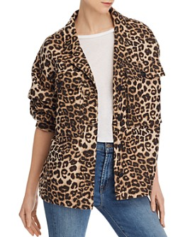 Anine Bing - Sawyer Leopard-Brocade Jacket