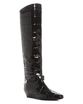 Giuseppe Zanotti - Women's Rebecca Croc-Embossed Over-The-Knee Wedge Boots