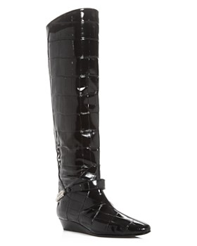 Giuseppe Zanotti - Women's Rebecca Croc-Embossed Over-The-Knee Wedge Boots