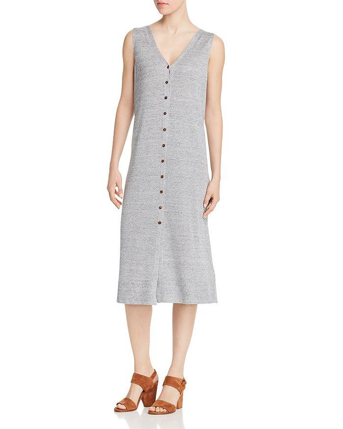 Lafayette 148 New York - Button-Front Lightweight Knit Dress