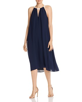 Adrianna Papell - Color-Block Trapeze Dress