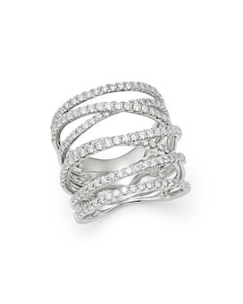 Bloomingdale's - Diamond Crossover Ring in 14K White Gold, 1.0 ct. t.w. - 100% Exclusive
