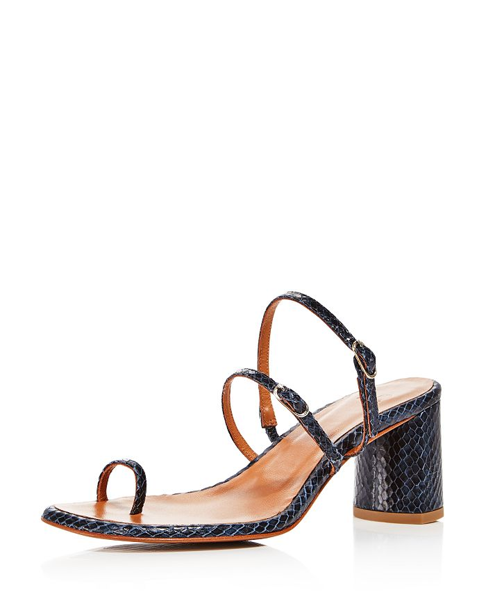 LoQ - Women's Alba Embossed Block Heel Sandals