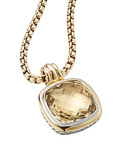 David Yurman - Sterling Silver & 18K Yellow Gold Albion Champagne Citrine Pendant