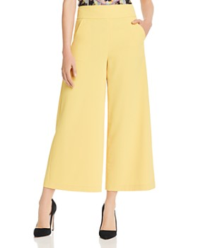 Alice and Olivia - Donald Cropped Wide-Leg Pants