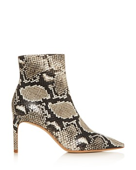 Sophia Webster - Women's Rizzo 85 Snake-Embossed High-Heel Booties