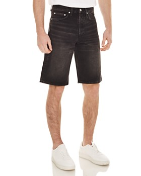 Sandro - Denim Shorts in Black