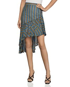 BCBGMAXAZRIA - Asymmetric Geometric-Stripe Skirt
