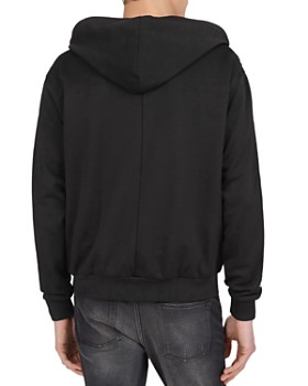 The Kooples - Checkered-Trim Technical Fleece Zip-Front Hoodie