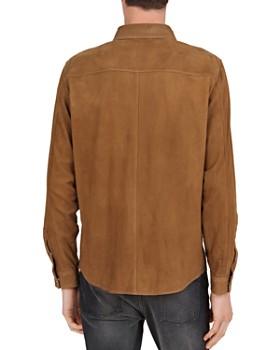The Kooples - Suede Regular Fit Snap-Front Shirt