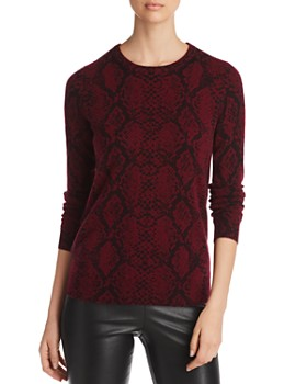 C by Bloomingdale's - Snake Print Cashmere Sweater - 100% Exclusive