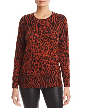 C by Bloomingdale's - Animal-Print Cashmere Sweater - 100% Exclusive