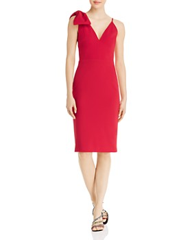 Avery G - Bow-Accent Sheath Dress