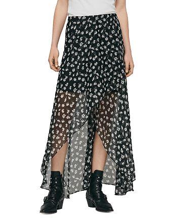 ALLSAINTS - Slvina Scatter High/Low Skirt
