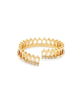 Nouvel Heritage - 18K Yellow Gold Vendome Lace Simple Some Diamond Ring