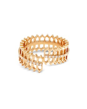 Nouvel Heritage - 18K Rose Gold Vendome Lace Double Some Diamond Ring