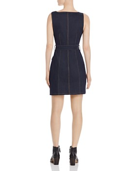Cinq à Sept - Gwyneth Belted Denim Mini Dress
