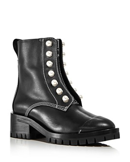 3.1 Phillip Lim - Women's Hayett Pearl Zip-Up Boots