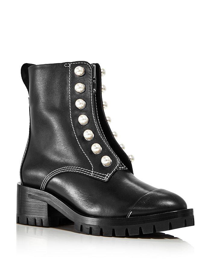 3.1 Phillip Lim - Women's Hayett Pearl Zip-Up Boots