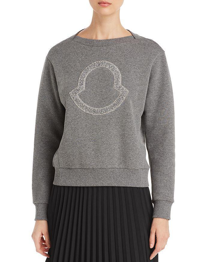 Moncler - Embellished Logo Knit Sweater