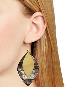 Tribe & Glory - Brass-Accent Stacked Drop Earrings