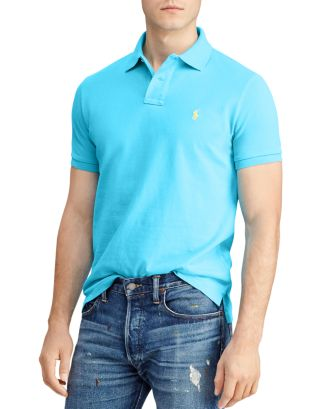 Polo Ralph Lauren Tops Mesh Custom Slim Fit Polo Shirt