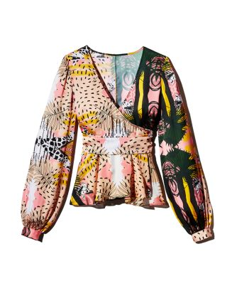 Print Wrap Top by Fe Noel