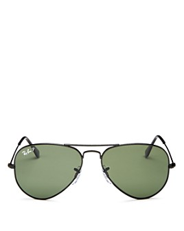 Ray-Ban - Unisex Polarized Aviator Sunglasses, 55mm