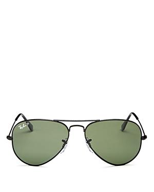 Ray-Ban Unisex Polarized Aviator Sunglasses, 55mm