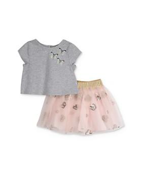 Pippa & Julie - Girls' Sequined Butterfly Top & Skirt Set - Little Kid