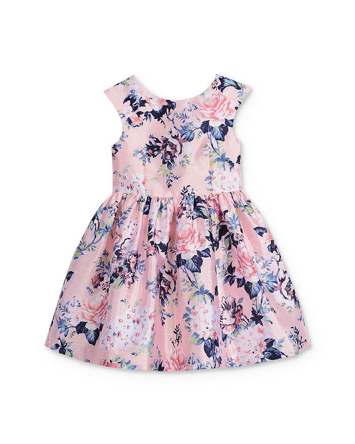 Pippa & Julie - Girls' Mikado Bow-Back Floral Dress - Little Kid