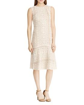 Ralph Lauren - Embroidered Sleeveless Dress