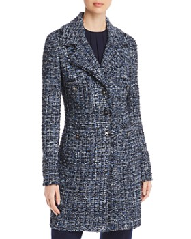 St. John - Fringed Tweed Coat