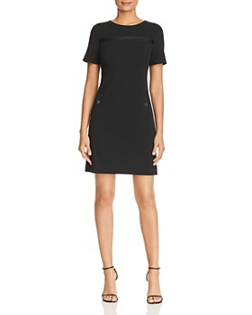 cea78cf25aec Calvin Klein - Faux-Pocket Shift Dress ...