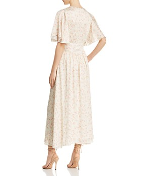 Divine Heritage - Striped & Floral Midi Dress