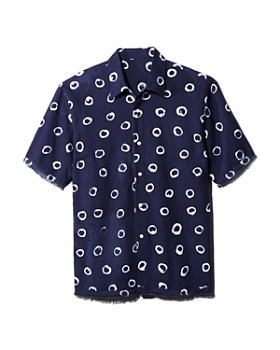 Post-Imperial - Short-Sleeve Circle-Print Regular Fit Shirt - 100% Exclusive