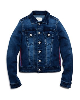 Hudson - Girls' Amber Glitter-Stripe Denim Jacket, Big Kid - 100% Exclusive