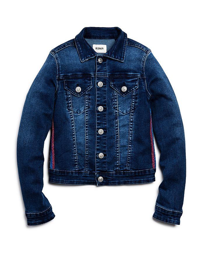 Hudson - Girls' Amber Glitter-Stripe Denim Jacket, Little Kid - 100% Exclusive