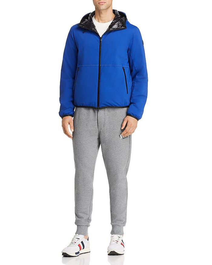 Moncler - Duport Down Jacket, Maglia Large-Logo Graphic Tee, and Logo Graphic Sweatpants