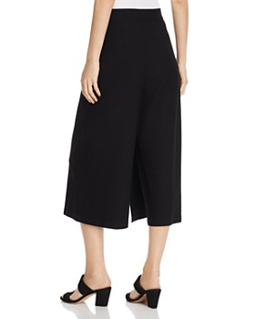 Eileen Fisher - Overlay Wide-Leg Cropped Pants