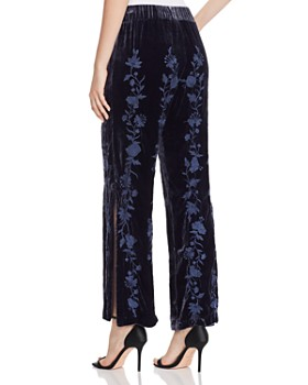 Johnny Was - Renee Embroidered Velvet Pants