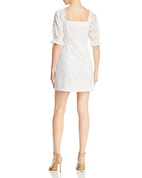 Lucy Paris - Puff-Sleeve Eyelet Dress