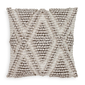 Surya Anders Textured Light Gray Throw Pillow, 18 x 18