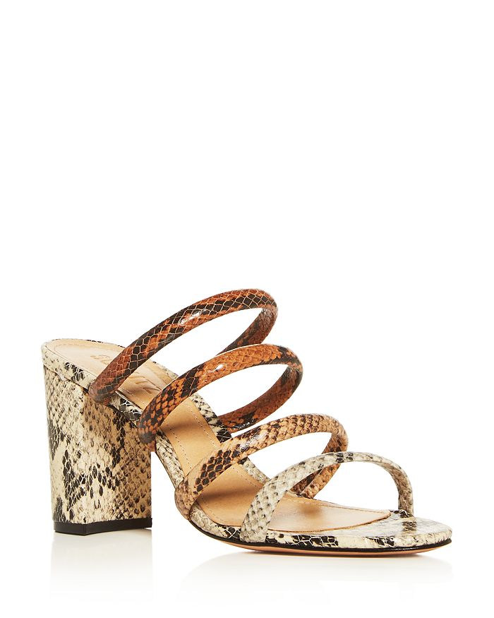SCHUTZ - Women's Felisa Strappy Block-Heel Slide Sandals