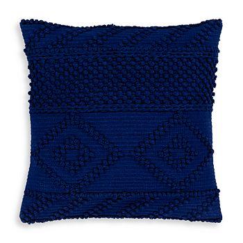"""Surya - Merdo Navy Textured Throw Pillow, 22"""" x 22"""""""