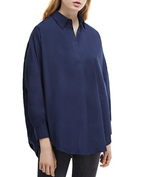 FRENCH CONNECTION - Rhodes Pullover Cotton Poplin Shirt